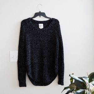 Womens XL Comfy Black Sweater